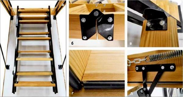 Складная чердачная лестница своими руками часть 1